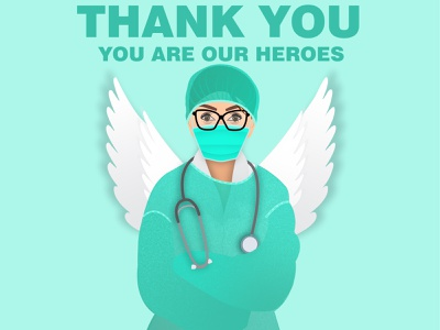 Doctor nurses courage heroes doctor background abstract beautiful design vector illustration