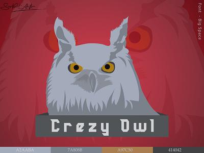 Crazy Owl mascot brandingdesign brand branding design logo design logodesign vecor icon app illustration design logotype logo challenge branding logos logomark logo mark logo collection minimal icons