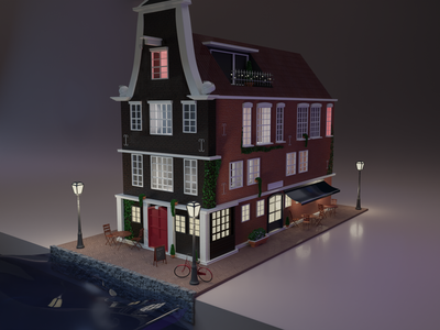 The Amsterdam Canal Toy House illustration toy amsterdam house 3d art 3d