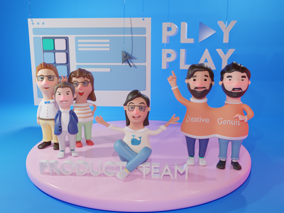 Joining the PlayPlay team! 3d team
