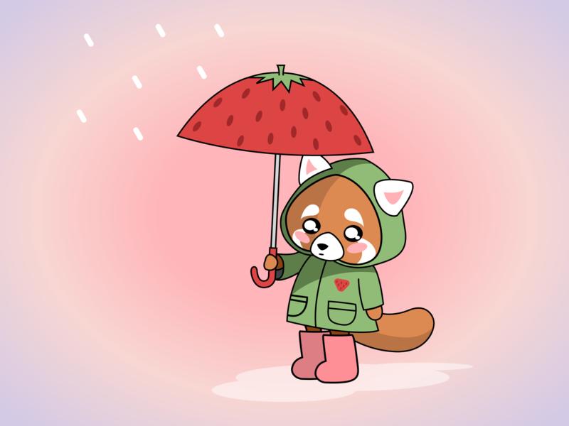 Kawaii Rain vector illustration illustrator kawaii