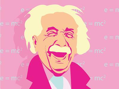 Happy Al' vector illustration illustrator albert einstein illustration