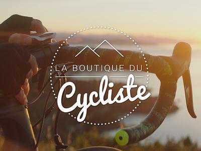 Logo La Boutique Du Cycliste typography branding prestashop e-commerce logo
