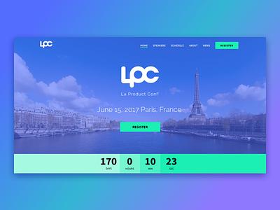 La Product Conference logo website ui webdesign la product conference lpc
