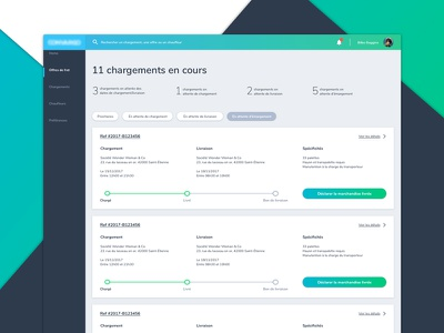 UI for BtoB backoffice product design back-office ui btob