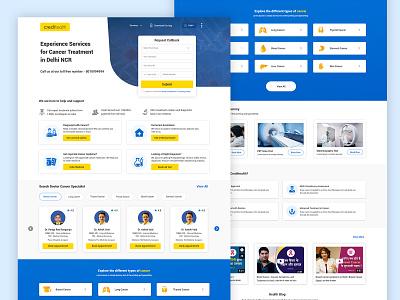 Cancer Landing Page web design ux material design web application landing page design home page ux design ui ui design