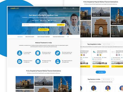 Medical Tourism Design interaction design ux design ui web design material design landing page design home page ui design