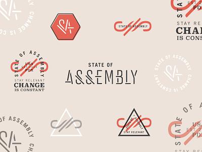 State of Assembly Brand Elements identity logo branding brand