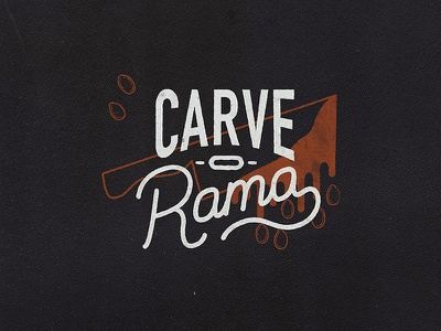 Carve-O-Rama design invitation hand lettered hand lettering lettering logtype logo