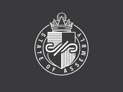 State of Assembly Badge crown crest badge identity design brand branding logo