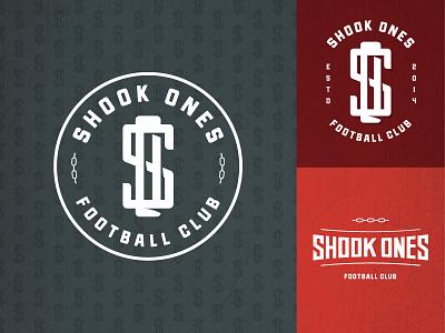 Shook Ones graphic design design football soccer branding logo badge