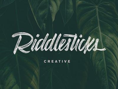 Riddlesticks Logotype script hand lettering lettering customtype brush pen design identity logotype logo branding