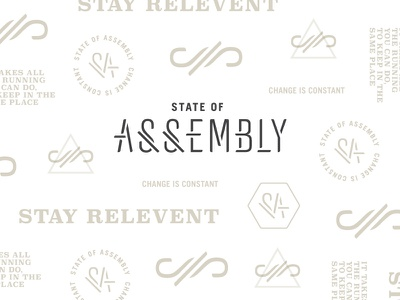 State of Assembly brand pattern custom type hand lettering typography pattern branding logo brand