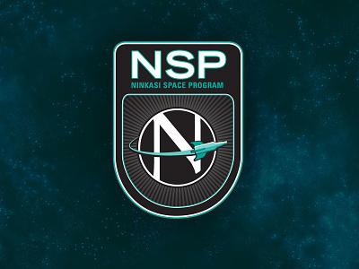 Ninkasi Space Program Primary Logo brewery beer rocket space badge patch logo