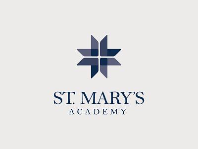 St. Mary's Academy logo - primary lockup brand branding academy school eduction women girls vector graphic design design typography logo