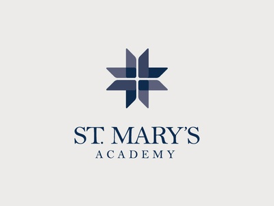 St. Mary's Academy logo - primary lockup