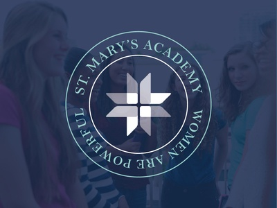 St. Mary's Academy logo - secondary lockup