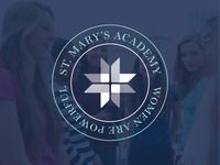 St. Mary's Academy logo - secondary lockup