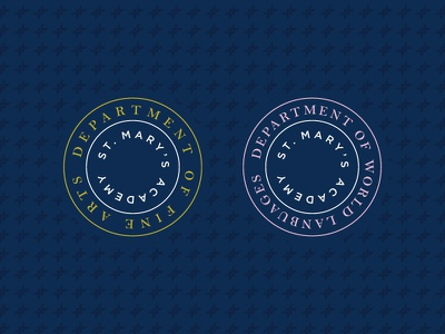 St. Mary's Academy department logos cross brand branding academy eduction girls vector graphic design design typography badge logo