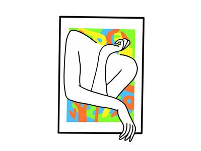 woman on frame