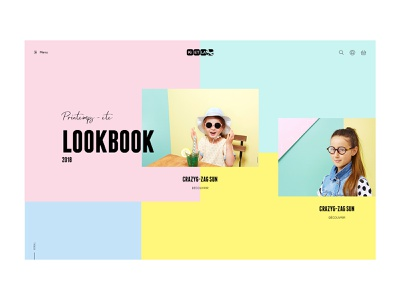 Lookbook - Kids anim animation design concept kids fashion e-commerce fullscreen web typography website ux ui desktop shop mode lookbook portfolio lachot cedrick