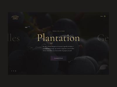 Chateau-Margaux - Navigation page type experience wine typography minimal transition anim homepage fullscreen clean web portfolio interaction website desktop ux ui lachot cedrick animation