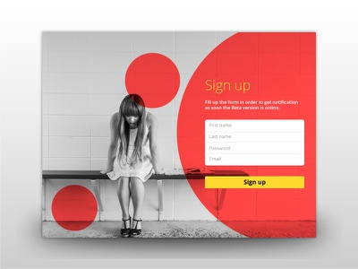 Daily UI - Sign Up sign up page landing direction creative ux ui dayli colors design sign