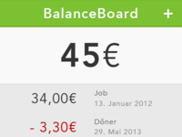 Money Balance Board App