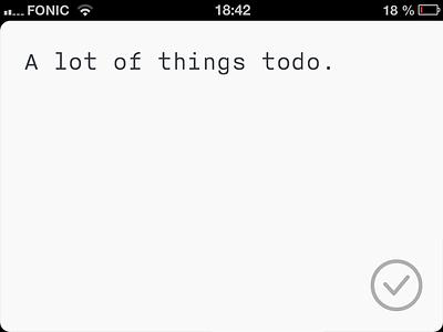 ToDo Mailer: Compressed iPhone App ui app iphone