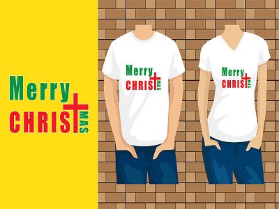 Merry Christmas Typography T-shirt Design tee t-shirt year merry