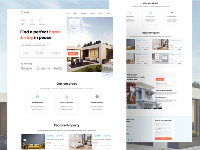 Landing page real estate realestate landingpage typography uiux webpage webdesign web design branding illustration ux logo ui