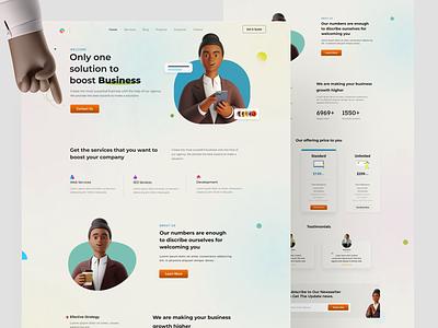 Landing page Business agency business landingpage webdesign web uxdesign uiuxdesign vector icon design branding typography uiux ux ui