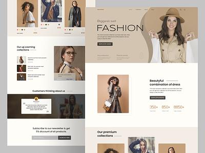 Landing page of fashion web. webdesign web uxdesign fashionweblanding fashionwebsite landingpage uiuxdesign uiux vector design typography ux u branding ui