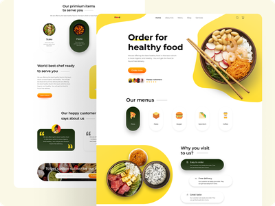 Landing page of food. foodwebdesign webdesign web foodlandingpage food landingpage branding uiuxdesign vector uiux typography design ux ui