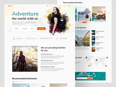 Travel agency landing page. branding webdesign web uidesign uxdesign landingpage travel travelagency vector uiux typography ux ui design