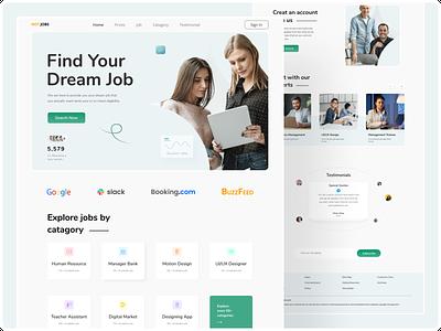 Job agency landing page. uidesign uxdesign jobagencylandingpage landingpage webdesign web vector uiux typography branding ux ui design