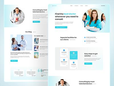 Medical consaltancy landing page. uidesign uxdesign medical consaltency medicalfarm branding typography landingpage uiux ux ui design web webdesign