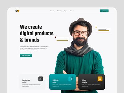 Digital agency landing page. ux design ui design digitalagency agency landingpage design typography uiux ui ux webdesign web