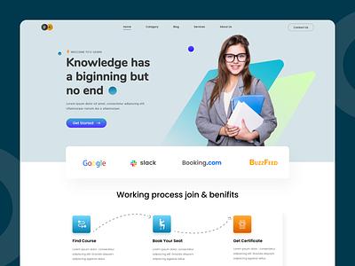 E-learning landing page. e-learning learning ui design ux design branding typography landingpage ux uiux ui design web design web
