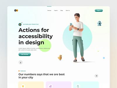 Design agency landing page. ux design ui design design agency typography landingpage uiux ux ui design web design web