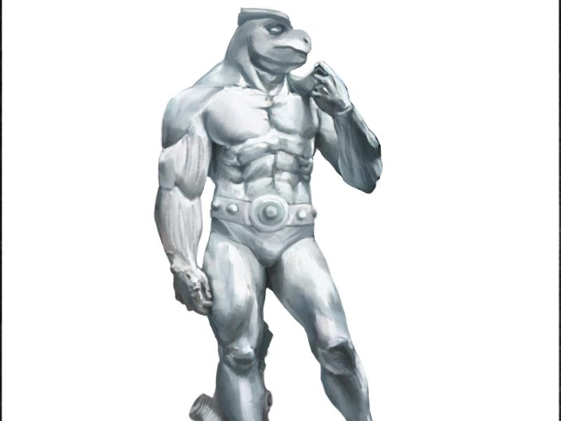 067 Machoke - Pokemon One a Day pokemon statue machoke michelangelo david scuplture marble parody nintendo