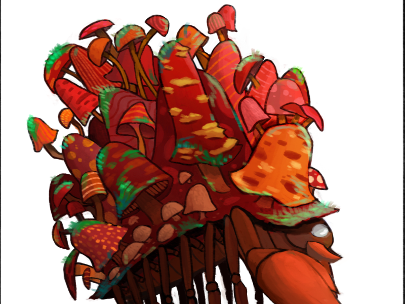 047 Parasect - Pokemon One a Day parasect zombie mushroom fungus cordycep nintendo pokemon