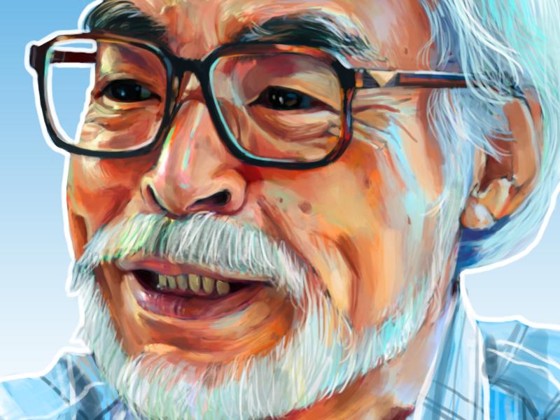Portrait of Hayao Miyazaki  hayao miyazaki studio ghibli illustration portrait