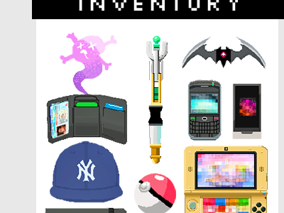 Personal Website Splash Art (Part 2) pixel art sprite rpg video game inventory design