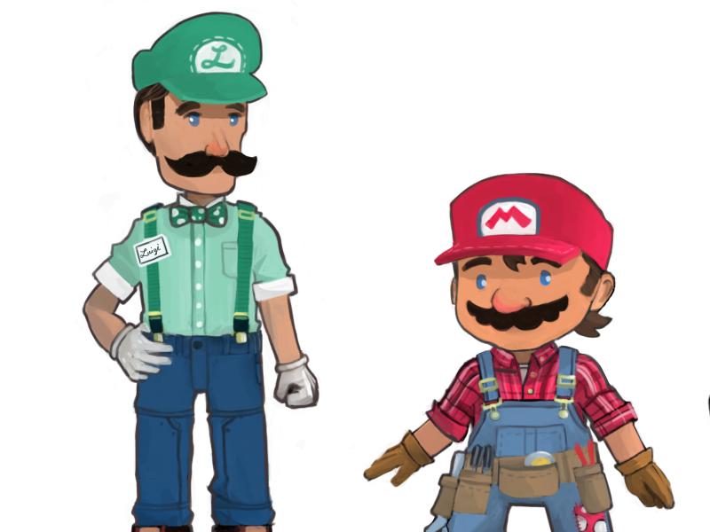 Super Mario Redesign Part 1 (2013) mario luigi peach toad nintendo concept redesign