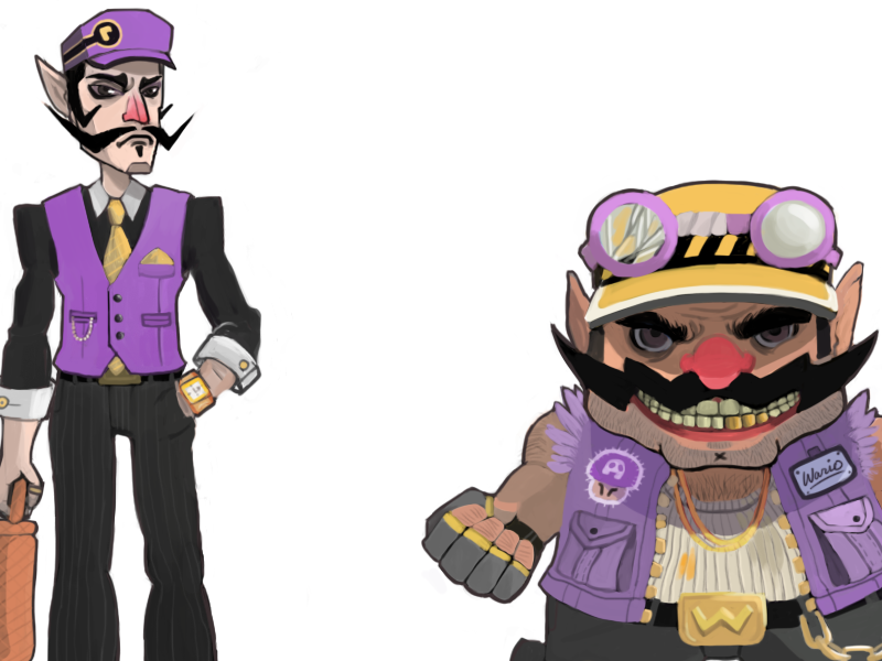 Redesigning Wario Bros! (2013) wario waluigi nintendo redesign concept