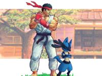 Ryu & Lucario - SF x PKMN