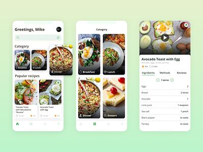 TEAI video profile cook health recipe food ux mobile ui