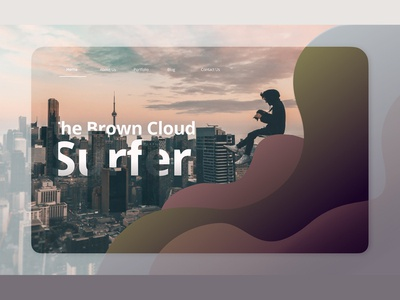 The Brown Cloud Surfer