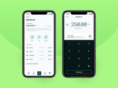 Crypto Transactions ui cryptocurrency crypto app ux design bitcoin